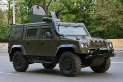 Armored car Rys. Rostov-on-Don, Russia, May 4, 2012 Preparing for the Victory Parade Stock Photo
