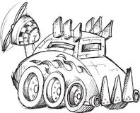 Armored Car Sketch Stock Photography