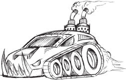 Armored Car Tank Sketch Royalty Free Stock Photos