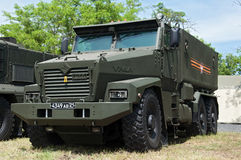 Armored car Typhoon-U. Rostov-on-Don, Russia, June 4, 2016 royalty free stock photography