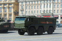 Armored car universal high security the Mine Resistant Ambush Protected (M Royalty Free Stock Image