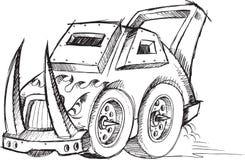 Armored Car Vehicle Sketch Stock Photos