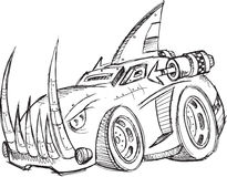 Armored Car Vehicle Sketch Stock Photos