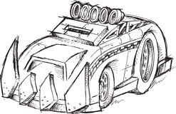 Armored Car Vehicle Sketch Royalty Free Stock Photo