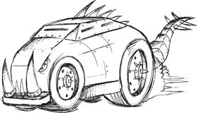 Armored Car Vehicle Sketch Royalty Free Stock Images