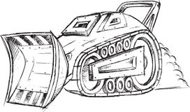 Armored Car Vehicle Sketch Royalty Free Stock Photography