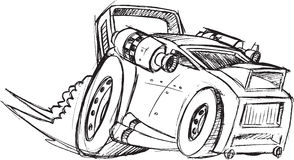 Armored Car Vehicle Sketch Royalty Free Stock Photos