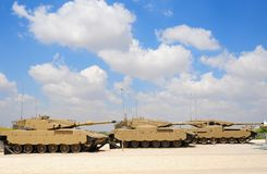 Armored Corps Museum. Memorial Site and the Armored Corps Museum in Latrun, Israel Royalty Free Stock Image