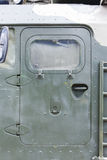 Armored door in a military vehicle Stock Image