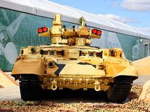 Armored fighting vehicle at the exhibition `Army 2018` royalty free stock photo