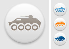 Armored fighting vehicle icon. Armored fighting vehicle on round button Stock Photos
