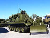 Armored havy engineering device IMR-3M Stock Photography