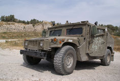 The armored jeep Stock Image
