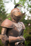 Armored Knight. An old armored knight at a castle located in Kansas Royalty Free Stock Image