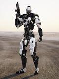 Оружие футуристической полиции робота armored mech Стоковые Фотографии RF