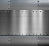 Armored metal background with rivets Stock Photos