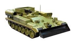 Armored military bulldozer Stock Photo