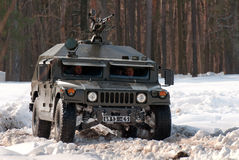 Armored military vehicle Royalty Free Stock Photo
