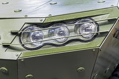 Armored Military Vehicle Front Detail - Headlight Stock Photos
