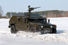 Armored military vehicle HMMWV Stock Photos
