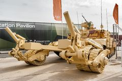 Armored mine-clearing vehicle BMR-3M (Russia) Stock Photo