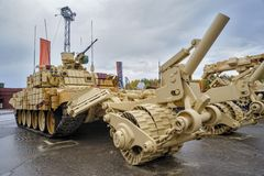 Armored mine-clearing vehicle BMR-3M. Russia Stock Photos