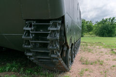 Armored Personnel Carried Tread Closeup Stock Photography
