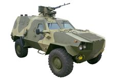 Armored personnel carrier Stock Image