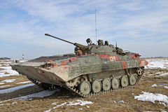 Armored personnel carrier BMP-2 Stock Photos