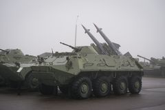 Armored personnel carrier BTR-152 royalty free stock photos