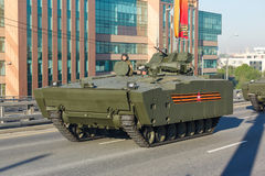 Armored personnel carrier BTR kurganets-25. MOSCOW, RUSSIA - MAY 09, 2016:armored personnel carrier BTR on medium tracked platform kurganets-25 on parade stock images