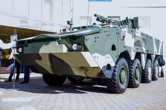 Kyiv, Ukraine - October 10, 2018: Armored personnel carrier BTR-4MB1. International Exhibition ARMS AND SECURITY 2018. Armored personnel carrier BTR-4MB1 royalty free stock images