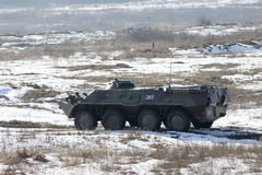 Armored personnel carrier BTR-80 Royalty Free Stock Photos