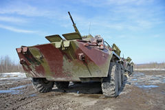 Armored personnel carrier BTR-80 Stock Photo