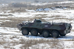 Armored personnel carrier BTR-80 Stock Image