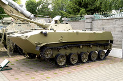 Armored personnel carrier in the museum of military equipment Royalty Free Stock Image