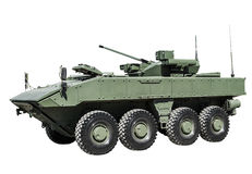 Armored personnel carrier on a unified platform battle isolated Stock Photography