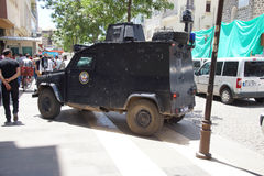Armored police car Royalty Free Stock Image