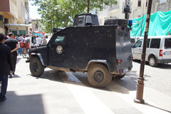 Armored police car Royalty Free Stock Photo