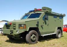armored polismedel Royaltyfri Foto