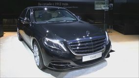 Armored sedan Mercedes-Benz S600 Cuard Stock Photos