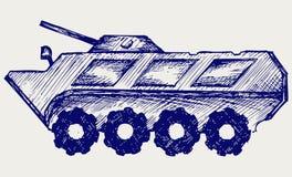 Armored soldat-bärare Arkivfoto