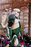 Armored Star Wars Character Walks In Atlanta Christmas Parade Stock Images