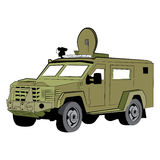 Armored SWAT Police Vehicle Royalty Free Stock Photos