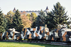 Armored train Hurban in Zvolen, Slovakia, World War II memorial Royalty Free Stock Images