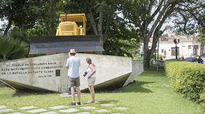 Armored Train Monument in Santa Clara,Cuba Royalty Free Stock Photography