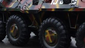 Armored Transportation Vehicle stock video footage