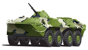 Armored troop-carrier. Stock Photo