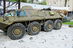 Armored troop-carrier from Donetsk airport Stock Image