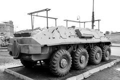 Armored troop-carrier. Stock Image